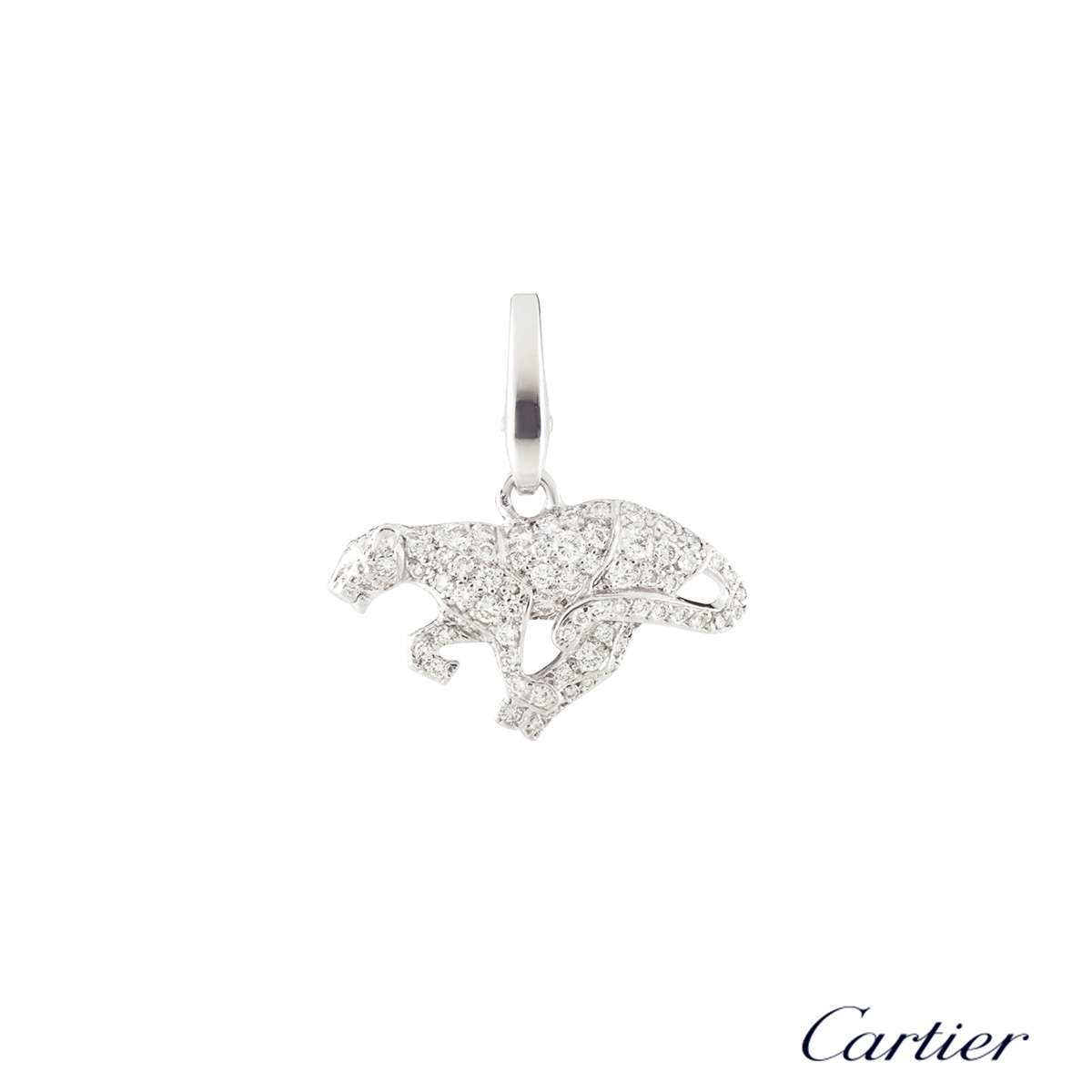 Cartier White Gold Diamond Panthere Charm